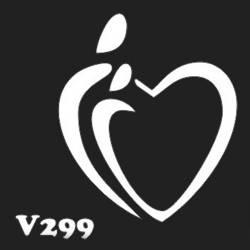 Многоразовый трафарет для мехенди V299