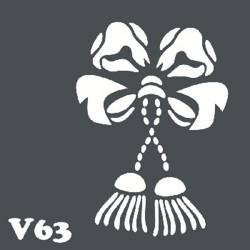 Многоразовый трафарет для мехенди V63