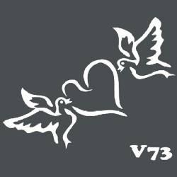 Многоразовый трафарет для мехенди V73