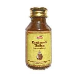 Массажное масло Кумкумади Тайлам Шри Ганга (Kumkumadi Thailam The Shri Ganga Pharmacy), 50мл