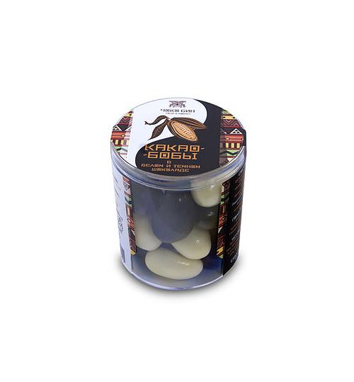 Ассорти какао-бобов в чёрном и белом шоколаде Чоко Бин, 100г