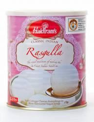 Творожные Шарики Халдирамс Расгулла (Haldiram's Rasgulla Soft Cottage Cheese Dumplings in Rose Flavoured Sugar Surup) ,1кг