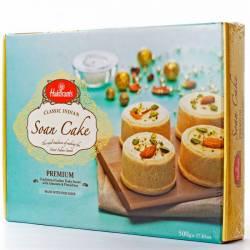Индийские Сладости Халдирамс Соан Кейк (Haldiram's Soan Cake Flaky Sweet With Almonds&Pistachios), 500г