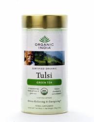 Базиликовый чай Зеленый Органик Индия (Organic India Tulsi Green), 100г
