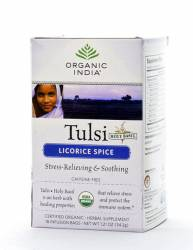 Базиликовый чай Лакрица Органик Индия (Organic India Tulsi Licorice), 18шт