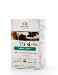 Базиликовый чай Мята Органик Индия (Organic India Tulsi Peppermint), 18шт