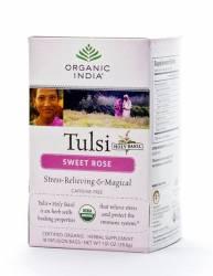 Базиликовый чай Сладкая Роза Органик Индия  (Organic India Tulsi Sweet Rose), 18шт