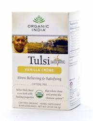 Базиликовый чай  Ваниль Органик Индия (Organic India Tulsi Vanilla Creme), 18шт