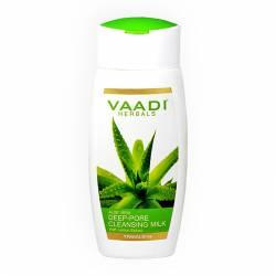 Молочко для глубокого очищения пор с экстрактом Алое Вера и Лимона Ваади Хербалс (Vaadi Herbals Aloe Vera Deep Pore Cleansing Milk), 110мл