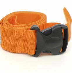 Ремень для йоги с силовой пряжкой оранжевый