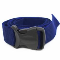 Ремень для йоги с силовой пряжкой синий
